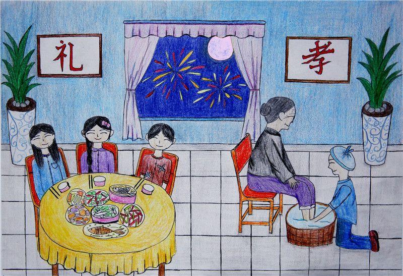"""泸州江阳区:学生巧手画家训 以""""孝""""绘出好家风"""