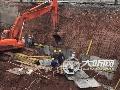 泸州暴雨天来袭 部分在建项目施工受影