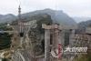 鸡鸣三省大桥工程过半 预计明年底建成通车