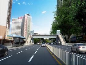 泸州两座人行天桥已开工建设
