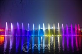 酒仙湖音乐喷泉调试