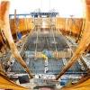 泸州长江六桥最大承台开始浇筑混凝土