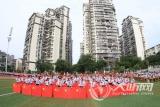 泸州十八中师生用特殊方式向新中国成立70周年献礼