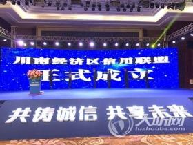 川南经济区信用联盟在泸州市正式揭牌成立