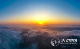 泸州现平流雾景观