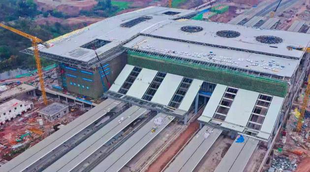 城市新地標   建設中的瀘州高鐵站(組圖)